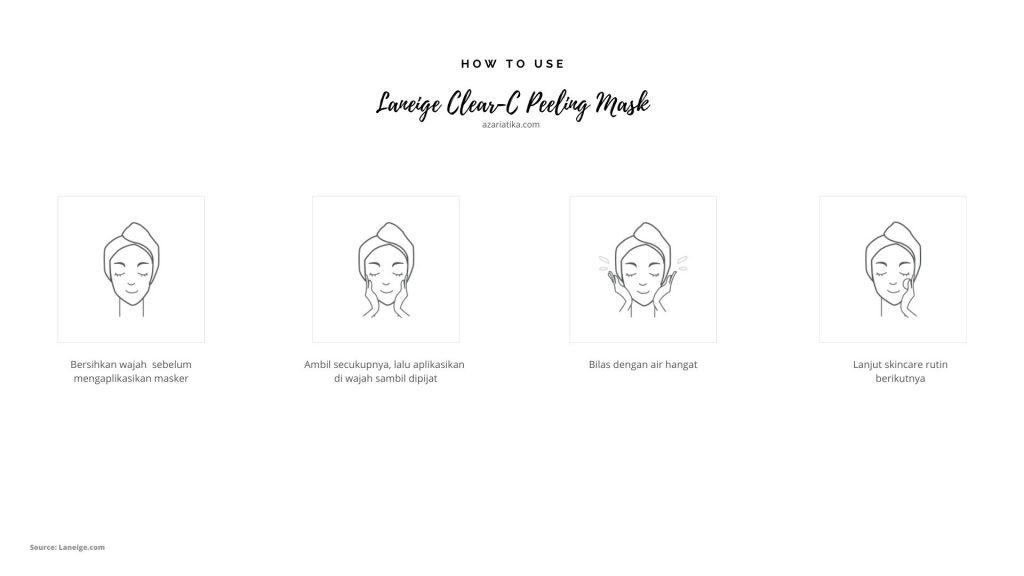 azariatiika cara menggunakan laneige clear c 1024x576 - Honest Review Laneige Clear-C Peeling Mask, Bikin Kulit Lembut!