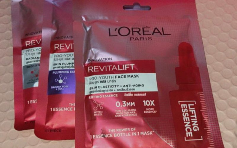 3 Varian Revitalift Pro-Youth Face Mask