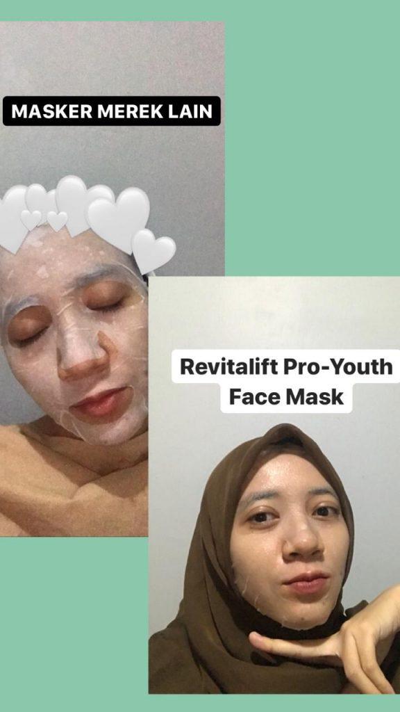 azariatika perbandingan masker loreal 576x1024 - Review 3 Varian Masker Glowing LOreal Paris Revitalift Pro-Youth Face Mask, Essence-nya Melimpah!